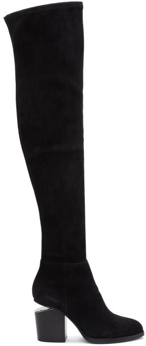 Alexander Wang Black Suede Gabi Over-the-Knee Boots