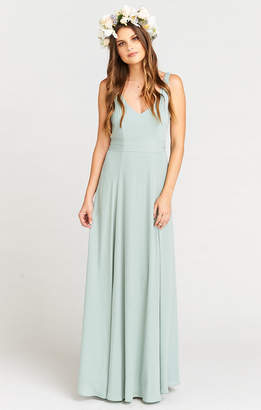 Show Me Your Mumu Jenn Maxi Dress ~ Silver Sage Crisp