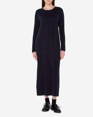 N.Peal Line Stitch Long Cashmere Dress