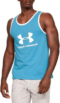 Under Armour Sportstyle Cotton Blend Logo Tank Top
