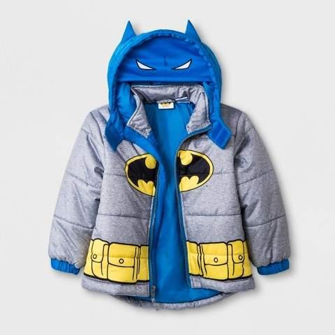 Batman Toddler Boys' Batman Coat - Gray