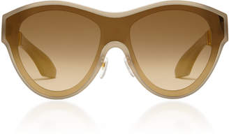 Philippe Chevallier Mask Oval Rimless Sunglasses