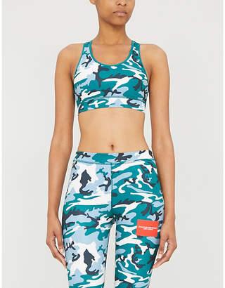 Calvin Klein Camouflage-print stretch-jersey sports bra