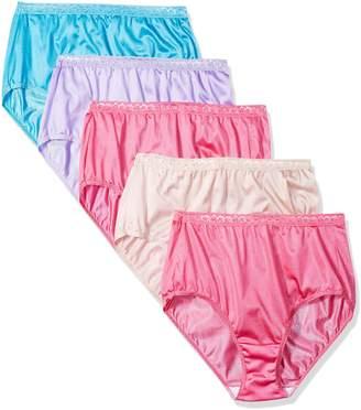 Just My Size Women's 5-Pack Nylon Brief Panties