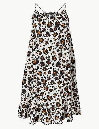 Marks and Spencer Animal Print Slip Beach Dress