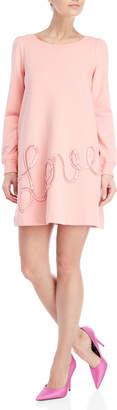 Love Moschino Sequin Embellished Sweatshirt Dress