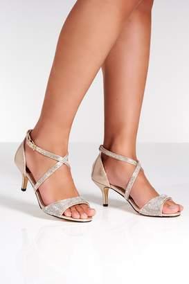 8018d9738ba Low Gold Heel Sandal - ShopStyle Australia