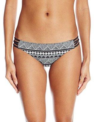 Reef Women's Zen and Zag Retro Macrame Side Bikini Bottom $35 thestylecure.com