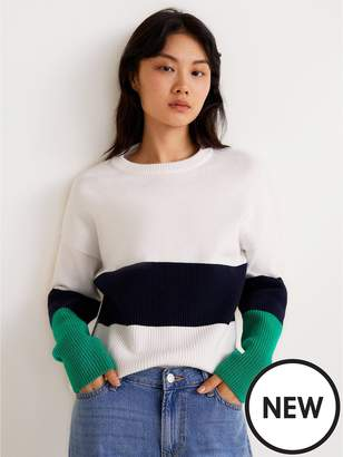 MANGO Stripe Knitted Jumper