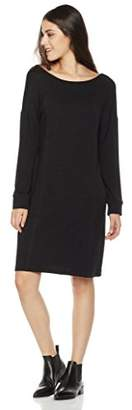 Painted Heart Women's Long Sleeve Boat Neck French Terry Sweatshirt Dress