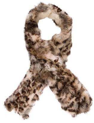Adrienne Landau Printed Fur Stole