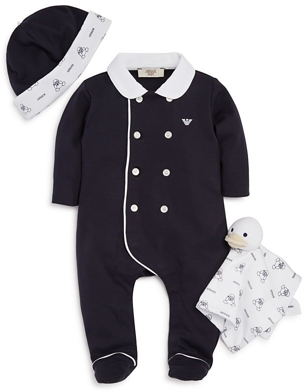 Armani Junior Armani Junior Infant Boys' Footie Set - Sizes 3-9 Months