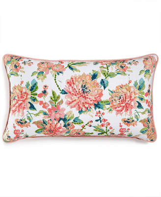 """Macy's Lacourte LAST ACT! Julius 14"""" x 26"""" Embroidered Floral-Print Decorative Pillow, Created for"""