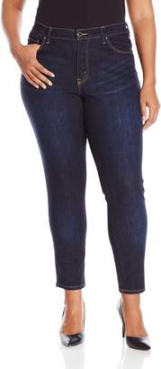 Lee Women's Plus Size Modern Series Midrise Fit Anna Skinny Ankle Jean