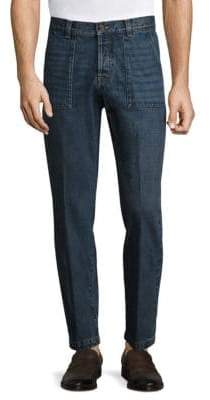 Eleventy Slim-Fit Whiskered Jeans