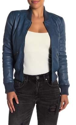Liebeskind Berlin Draped Lapel Leather Jacket