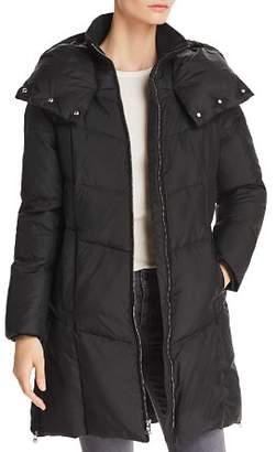 Cole Haan Zip Front Puffer Coat
