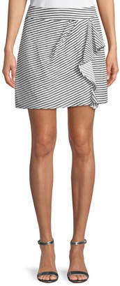 Nanette Lepore Rendezvous Striped Skort w/ Ruffle