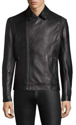 HUGO Laston Leather Biker Jacket