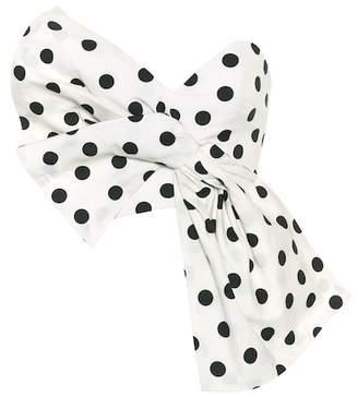 Johanna Ortiz Exclusive to mytheresa.com – Comoras polka-dot cotton crop top