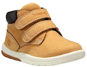 Timberland Kids' Hook-and-Loop Leather Boots