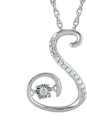 FINE JEWELRY Love in Motion Diamond-Accent Sterling Silver S Pendant Necklace