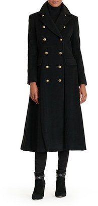 Women's Lauren Ralph Lauren Double Breasted Military Maxi Coat $420 thestylecure.com