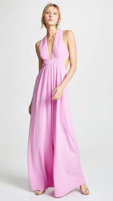 Jill Stuart Deep V Neck Gown
