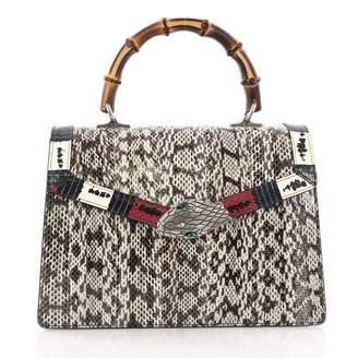 Gucci Lilith Grey Water snake Handbag