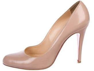 Christian Louboutin Leather Round-Toe Pumps