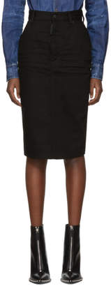 DSQUARED2 Black Denim Long Dalma Skirt