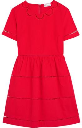 REDValentino - Embroidered Cotton Mini Dress $595 thestylecure.com