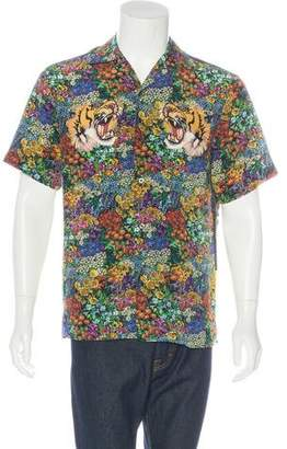 Gucci 2016 Floral Print Bowling Shirt