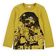 Paul Smith Kids' Astronaut-Print Cotton T-Shirt - Yellow