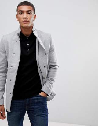 ONLY & SONS Asymmetric Wool Overcoat