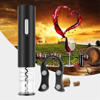 HilldaAline Electric Cordless Corkscrew Wine Bottle Opener With F Cutter Vacuum Stopper
