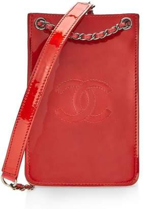 37eb90170de4 Chanel Red Patent Leather Crossbody Phone Holder