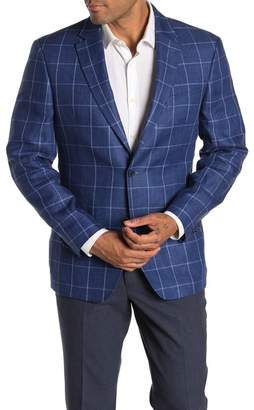 Tommy Hilfiger Linen Windowpane Suit Separates Blazer