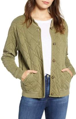 Lucky Brand Quilted Cotton Bomber Jacket