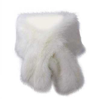 AliceHouse Women's Wedding Shawl Shrug Faux Fur Scarf Wraps for Evening/Party/Show SW38