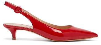 Gianvito Rossi Vernice Patent Leather Slingback Pumps - Womens - Red