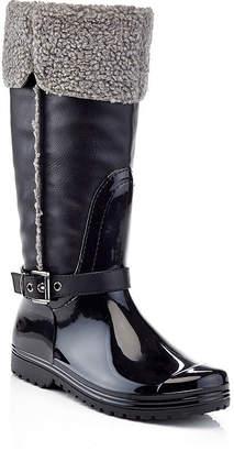 HENRY FERRERA Henry Ferrera Womens Faux Shearling Rain Boots Water Resistant Flat Heel