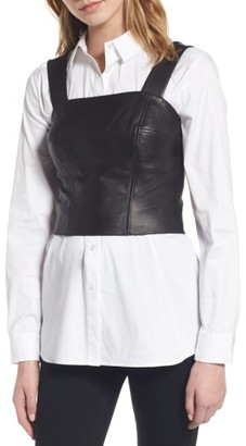 Women's Trouve Leather Bustier $129 thestylecure.com