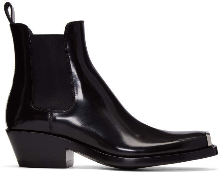 Calvin Klein 205W39NYC Black Western Chelsea Boots