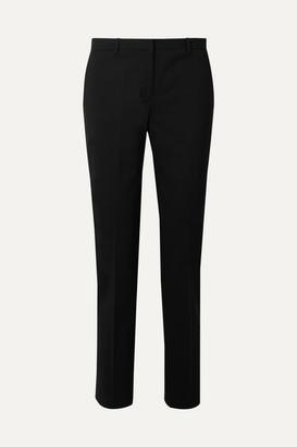 Theory Wool-blend Straight-leg Pants - Black