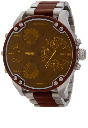 Diesel Men's Mr. Daddy 2.0 Chronograph Leather Wrap Bracelet Watch, 55mm $425 thestylecure.com