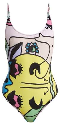 +Hotel by K-bros&Co Ellie Rassia - Grand Hotel Print Swimsuit - Womens - Multi