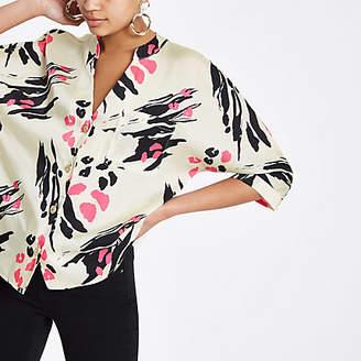 River Island Womens Pink scarf print satin shirt