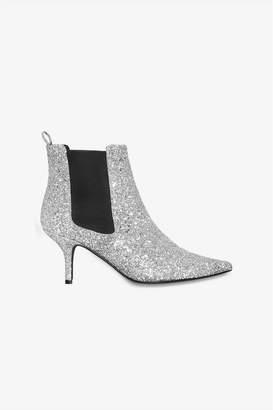 Anine Bing Stevie Boots - Silver Glitter