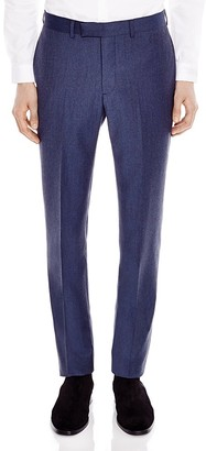 Sandro Notch Flannel Slim Fit Trousers $295 thestylecure.com
